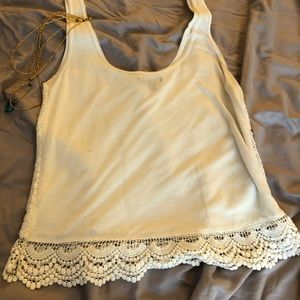 Lacey cream top